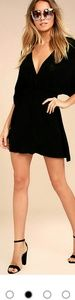 Lulus black deep plunge dress